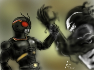 what if?? kamen rider black vs venom ???
