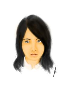 a drawing of a girl from jdrama