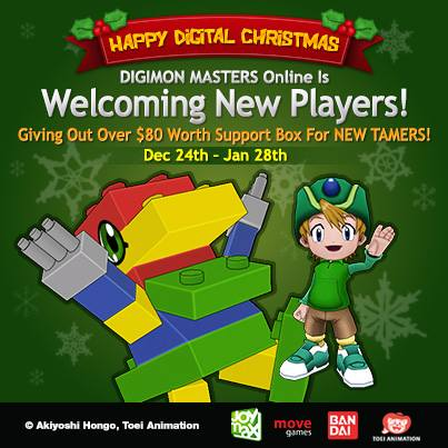 Digimon Master Online Chrismas & Happy New Year Event - Get $80 worth items for New Player!!