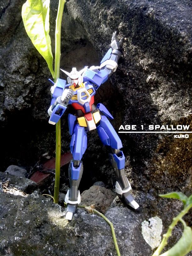 HG Age 1 Spallow Gundam snapfit only..  camera : Adromax i